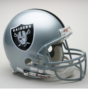 Full Size Authentic Riddell Football Helmet - Oakland Raiders