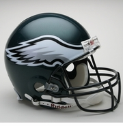 Full Size Authentic Riddell Football Helmet - Philadelphia Eagles