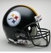 Full Size Authentic Riddell Football Helmet - Pittsburgh Steelers