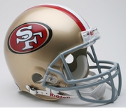 Full Size Authentic Riddell Football Helmet - San Francisco 49ers