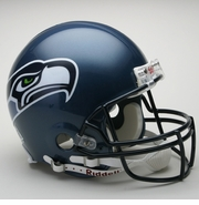 Full Size Authentic Riddell Football Helmet - Seattle Seahawks