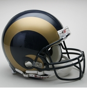 Full Size Authentic Riddell Football Helmet - St. Louis Rams