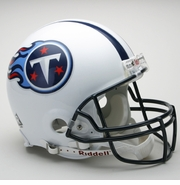 Full Size Authentic Riddell Football Helmet - Tennessee Titans