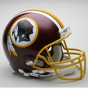 Full Size Authentic Riddell Football Helmet - Washington Redskins