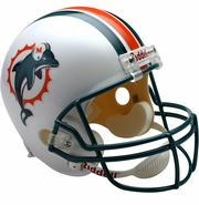 Full Size Replica Riddell Football Helmet - Miami Dolphins