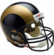 Full Size Replica Riddell Football Helmet - St. Louis Rams