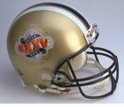 Full Size Replica Riddell Football Helmet - SuperBowl XXXV Helmet