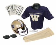 NCAA Youth Football Helmet & Uniform Set <br>Washington Huskies