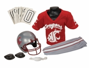 NCAA Youth Football Helmet & Uniform Set<br>Washington State Cougars