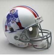 NFL Football Helmet - Authentic Throwback - Patriots 1965-81