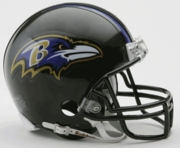 NFL Football Helmet -  Baltimore Ravens Mini Replica