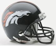 NFL Football Helmet -  Denver Broncos Mini Replica