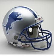 NFL Football Helmet - Detroit Lions Authentic Throwback 1983-2002