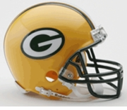 NFL Football Helmet -  Green Bay Packers Mini Replica