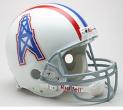NFL Football Helmet - Houston Oilers Authentic Throwback 1975-80