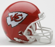 NFL Football Helmet -  Kansas City Chiefs Mini Replica