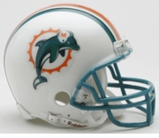 NFL Football Helmet -  Miami Dolphins Mini Replica