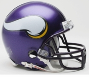 NFL Football Helmet -  Minnesota Vikings Mini Replica