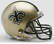 NFL Football Helmet -  New Orleans Saints Mini Replica