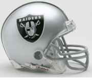 NFL Football Helmet -  Oakland Raiders Mini Replica