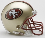 NFL Football Helmet -  San Francisco 49ers Mini Replica