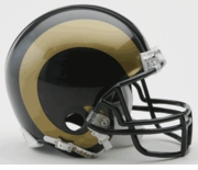 NFL Football Helmet -  St. Louis Rams Mini Replica