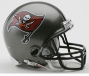 NFL Football Helmet -  Tampa Bay Buccaneers Mini Replica