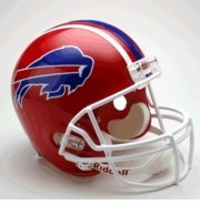 Replica Riddell Football Helmet - Buffalo Bills Throwback 1987-2001