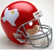 Replica Riddell Football Helmet - Dallas Texans Throwback 1960-62