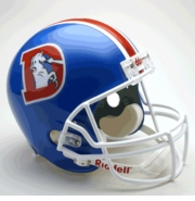 Replica Riddell Football Helmet - Denver Broncos Throwback 1975-96