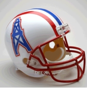 Replica Riddell Football Helmet - Houston Oilers Throwback 1981-96