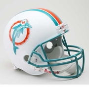 Replica Riddell Football Helmet - Miami Dolphins Throwback 1980-96