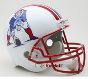 Replica Riddell Football Helmet - New England Patriots Throwback 1990-92
