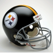 Replica Riddell Football Helmet - Pittsburgh Steelers Throwback 1963-76