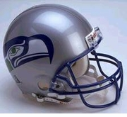 Replica Riddell Football Helmet - Seattle Seahawks Throwback 1983-2001