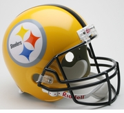 Riddell Replica Throwback Football Helmet - Pittsburgh Steelers Gold