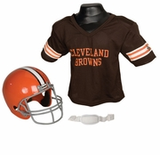 Youth Football Helmet and Jersey Set - Browns