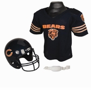 Youth Football Helmet and Jersey Set - Chicago Bears