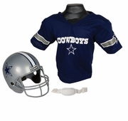 Youth Football Helmet and Jersey Set - Dallas Cowboys