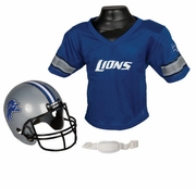 Youth Football Helmet and Jersey Set - Detroit Lions