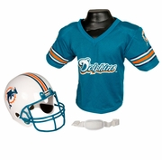 Youth Football Helmet and Jersey Set - Dolphins