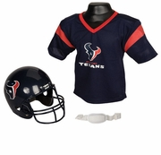 Youth Football Helmet and Jersey Set - Houston Texans