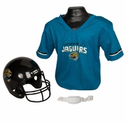 Youth Football Helmet and Jersey Set - Jaguars