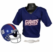 Youth Football Helmet and Jersey Set - New York Giants