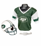 Youth Football Helmet and Jersey Set - New York Jets