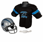 Youth Football Helmet and Jersey Set - Panthers
