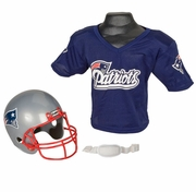 Youth Football Helmet and Jersey Set - Patriots