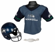 Youth Football Helmet and Jersey Set - Seahawks