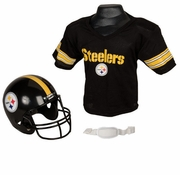 Youth Football Helmet and Jersey Set - Steelers