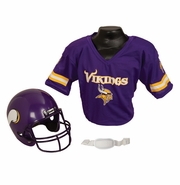Youth Football Helmet and Jersey Set - Vikings